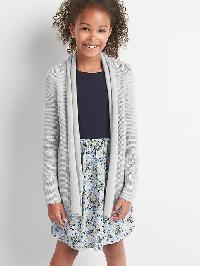 Gap Shimmer Open Shawl Cardigan - Light grey heather