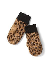Gap Leopard Mittens - Leopard
