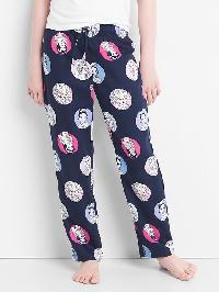 Gapkids &#124 Disney Print Flannel Pj Pants - Elysian blue