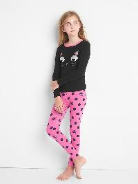 Gap Halloween Cat Sleet Set - True black