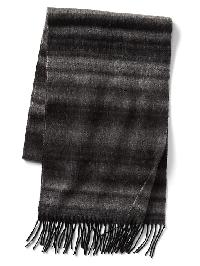 Gap Ombre Stripe Wool Scarf - Grey heather