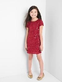 Gap Ruby Sequin Dress - Red