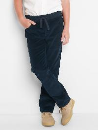Gap Stretch Pull On Straight Cord Jeans - True navy v3