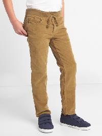 Gap Stretch Pull On Straight Cord Jeans - Cream caramel