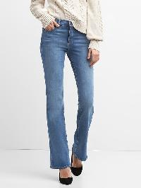 Gap Mid Rise Perfect Boot Jeans - Medium indigo 2