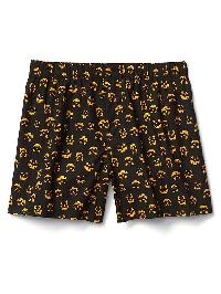 "Gap Poplin Print 4.5"" Boxers - Pumpkin orange 629"