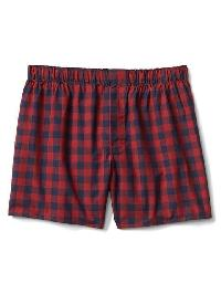 "Gap Check Plaid Boxers (4.5"") - Red plaid"