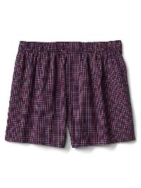 "Gap Check Plaid Boxers (4.5"") - Windowpaneplaid red"