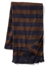 Gap Cozy Print Scarf - Hot chestnut