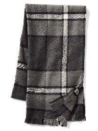 Gap Cozy Print Scarf - Gray heather/white