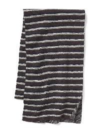 Gap Jacquard Stripes Scarf - Grey stripe