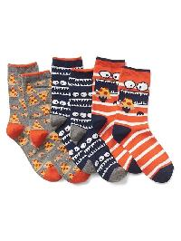 Gap Print Crew Socks (3 Pack) - Pizza
