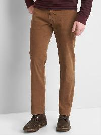Gap Straight Fit Cords (Stretch) - Brown chestnut