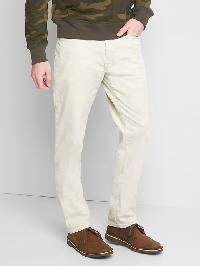 Gap Straight Fit Cords (Stretch) - Pale beige