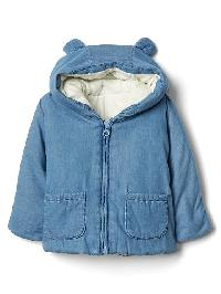 Gap Organic Denim Filled Bear Jacket - Indigo chambray