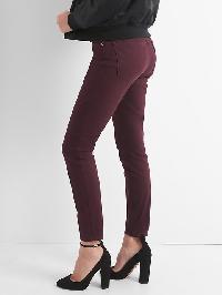 Gap Mid Rise Curvy True Skinny Jeans - Rich wine