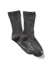 Gap Ribbed Dress Socks - Charcoal grey