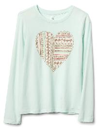 Gap Graphic Long Sleeve Tee - Stillwater