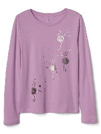 Gap Graphic Long Sleeve Tee - Lavender hill
