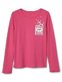 Gap Graphic Long Sleeve Tee - Pink azalea