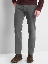 Gap Straight Fit Cords (Stretch) - Clean grey