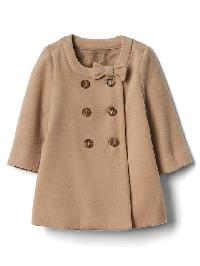 Gap Bow Peacoat - Tan