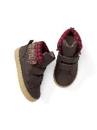 Gap Plaid Leather Mid Top Sneakers - Hillside