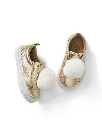 Gap Pom Pom Slip On Sneakers - Champagne