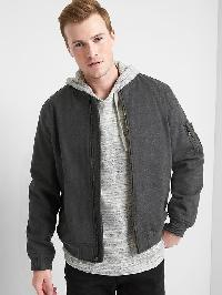 Gap Twill Vintage Bomber - Charcoal heather
