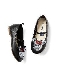 Babygap &#124 Disney Baby Minnie Mouse Ballet Flats - Black
