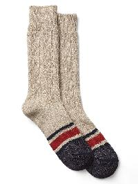 Gap Cable Knit Boot Socks - Oatmeal