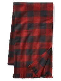 Gap Cozy Print Scarf - Sun dried tomato red