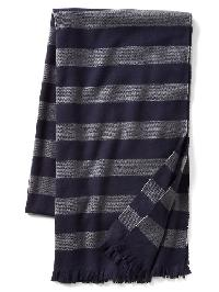 Gap Cozy Print Scarf - Navy/grey stripe