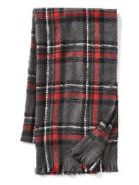 Gap Cozy Print Scarf - Grey plaid