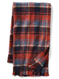 Gap Cozy Print Scarf - Sedona red plaid