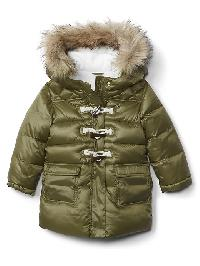 Gap Puffer Duffle Parka - Hunter green