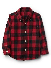 Gap Buffalo Plaid Button Down Shirt - Red apple