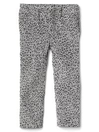 Gap High Stretch Leopard Print Skinny Cord Jeans - Gray heather/white