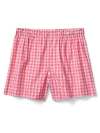 "Gap Breast Cancer Research Foundation Gingham 4.5"" Boxers - Pink plaid combo a"