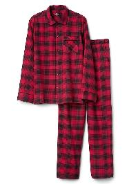 Gap Flannel Pj Set - Red plaid
