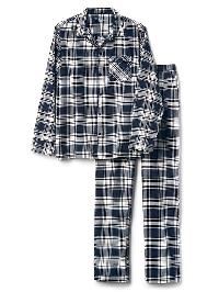 Gap Flannel Pj Set - Blue plaid