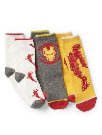 Gapkids &#124 Marvel Superhero Crew Socks (3 Pack) - Ironman