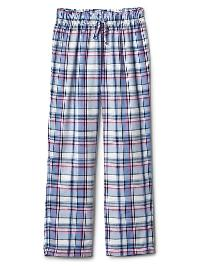 Gap Print Flannel Pj Pants - Buxton blue