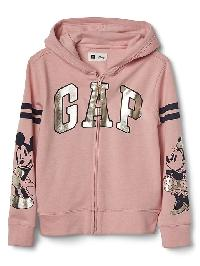 Gapkids &#124 Disney Logo Zip Hoodie - Pink standard