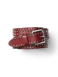 Gap Studded Leather Belt - Raspberry