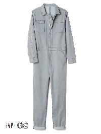 Gap + Gq Ua Railroad Stripe Denim Coverall - Railroad stripe denim