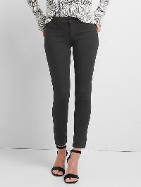Gap Mid Rise Super Slimming True Skinny Jeans - Matte black
