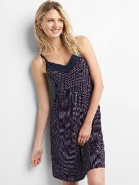 Gap Maternity Nursing Nightgown - Pj dots dark indigo