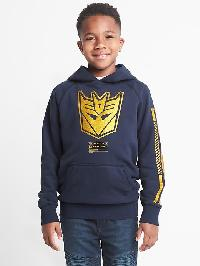 Gap Transformers Graphic Pullover Hoodie - True indigo