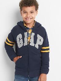 Gap Logo Raglan Zip Hoodie - True indigo